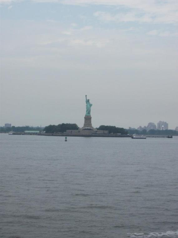 Taken from the Staten Island Ferry . . . the closest I've ever been to the Statue of Liberty