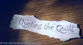 Quoting the Quill